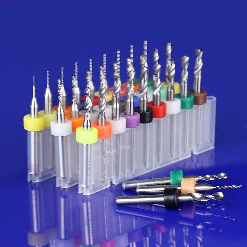 10Pcs//Set PCB CNC SMT Leiterplatte Carbide Micro Drill Bits 0,1 Mm Bis 1,4 Mm