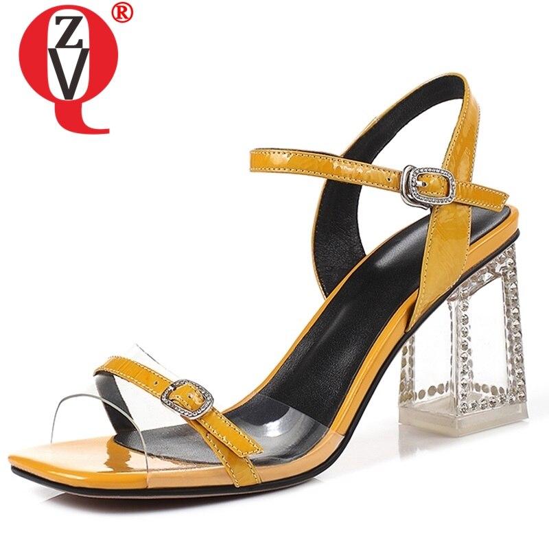 Genuine Leather Women Sandals Summer Shoes High Heels Brand
