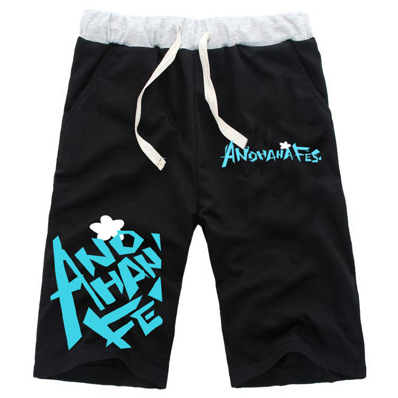 Fashion Shorts Men for Anime ANOHANA Honma Meiko Printed Drawstring Shorts Unisex Casual ...