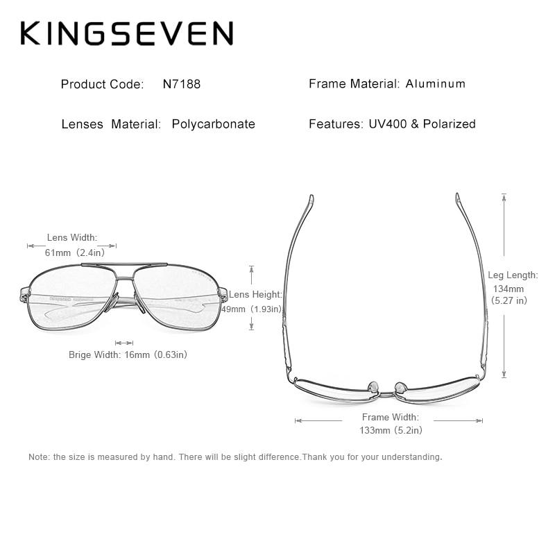 Image 4 - KINGSEVEN Women Men Sunglasses Polarized Mirror Lens Vintage Eyewear Driving Sun glasses Aluminum Temple Gafas de sol Masculino-in Men's Sunglasses from Apparel Accessories