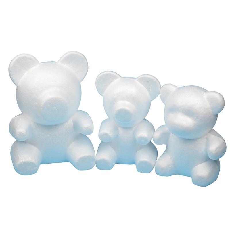 4 size Polystyrene Styrofoam Foam Ball Rose Bear White Craft For DIY Party Decoration Wedding New Year Valentines Day Gift(China)