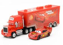 Disney Pixar Cars 2pcs Lightning McQueen Uncle Jimmy The King 1:55 Diecast Metal Alloy Modle Toys Car Gift For lightning mcQueen