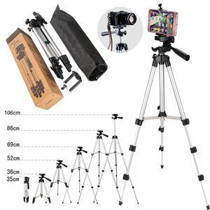 Image 5 - المهنية الألومنيوم كاميرا ترايبود حامل حامل الهاتف النايلون تحمل حقيبة آيفون سامسونج الهاتف الذكي أربعة الطابق عالية