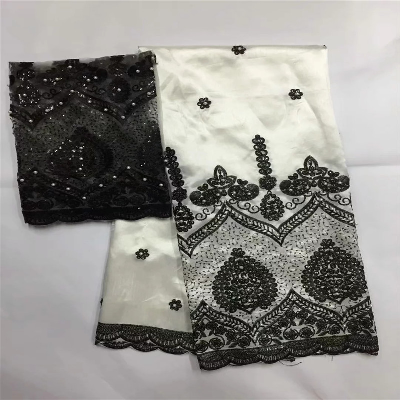 high class hole design george lace fabric indian george wrappers african raw silk george lace fabric + 2 yards tulle lace LXE922high class hole design george lace fabric indian george wrappers african raw silk george lace fabric + 2 yards tulle lace LXE922