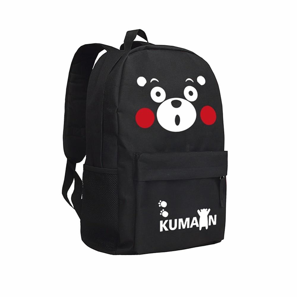 Kawaii Кумамон Рюкзаки Японии аниме Bookbags Обувь для мальчиков и для девочек школьная сумка для средней школы Рюкзаки для подростков Обувь для д...