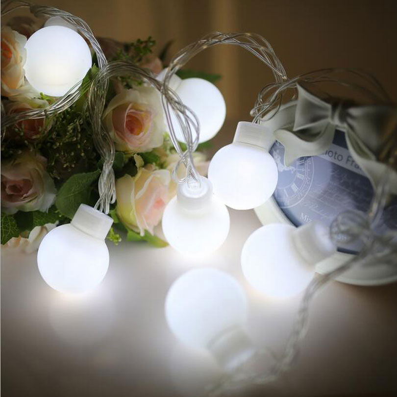 Novelty Ball LED Light 5M 5cm Globe Festoon Party Lamp Christmas Light Fairy Outdoor Pendant Weeding Decor String lighting 30pcs