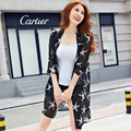2017 Summer Autumn Women Fashion Print Shirt Cardigan Chiffon Tops Soft Printed Stars/Flowers/bird Outwear Shawl Sunscreen Coat