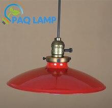 Подвесные светильники старинные чердак лампы диаметр 26 см абажур выключатель ресторан бар украсить из светодиодов внутреннего освещения светильник