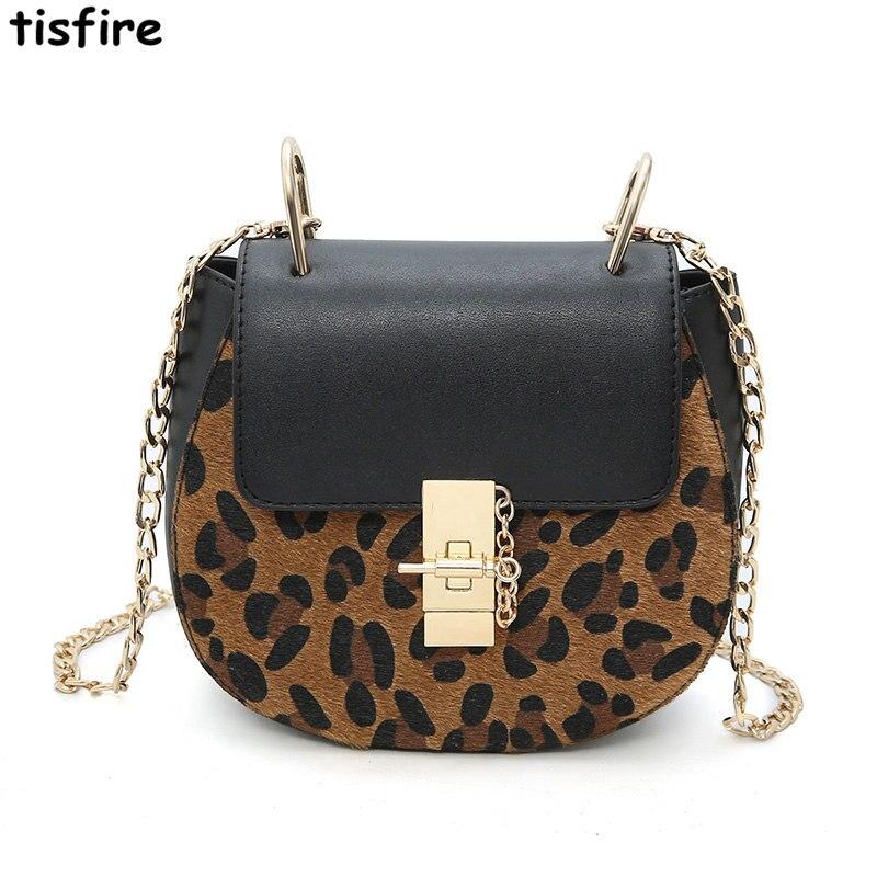 Frauen Taschen Kleine Leopard Tasche Leder Kette P8nwXOk0