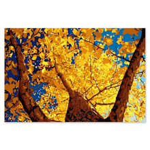The autumn leaves tree heaven digital painting decorative  painted their coloring Diy by numbers hand