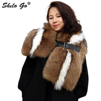Free Shipping Fashion New Winter Women's High quality Luxury Catwalk Section Of Fur Cat Fur Raccoon Fur Shawl Scarf