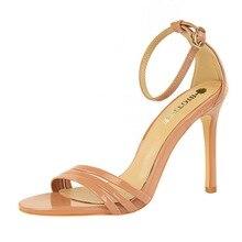 2017 NEW Summer Shoes women Fashion Pumps Zipper Side Hollow High Sandals Sexy Thin Heels High-heeled Women Shoes Point Toe