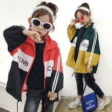 New Fashion Spring Antumn Teenager Girls Coats Kids Jackets for windcheater Brand Outerwears Sportswear Children Clothing