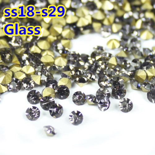 Black Diamond color~SS18~SS29 Round Crystal loose pointback Beads   Stones  cd97548c1879