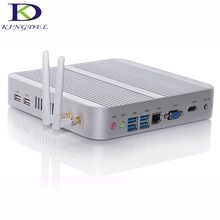 Kingdel fanless htpc 5005u core i3 мини-компьютер intel hd graphics 5500 неттоп pc hdmi vga 2.0 ГГц desktop pc 3 м кэш 16 г 256