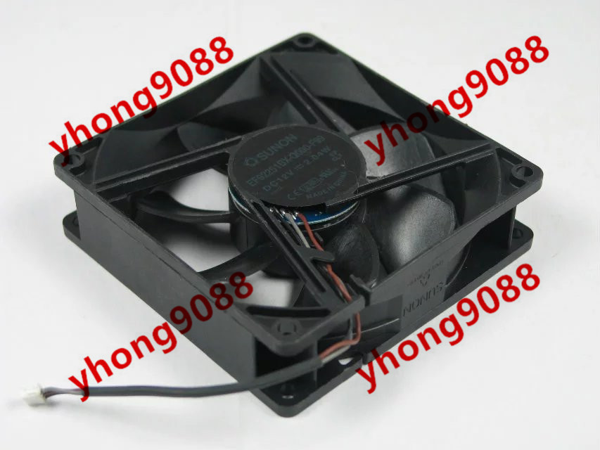 Free Shipping For SUNON EF92251BX-Q000-F99 DC 12V 2.04W 3-wire 3-pin connector 92x92x25mm Server Square Cooling Fan free shipping for sunon gb1207ptv2 a 13 b4396 f gn dc 12v 2 2w 3 wire 3 pin connector 70mm 70x70x25mm server square cooling fan