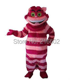 Костюмы для косплея Чеширский кот талисман костюм Взрослый размер Чеширский кот талисман костюм