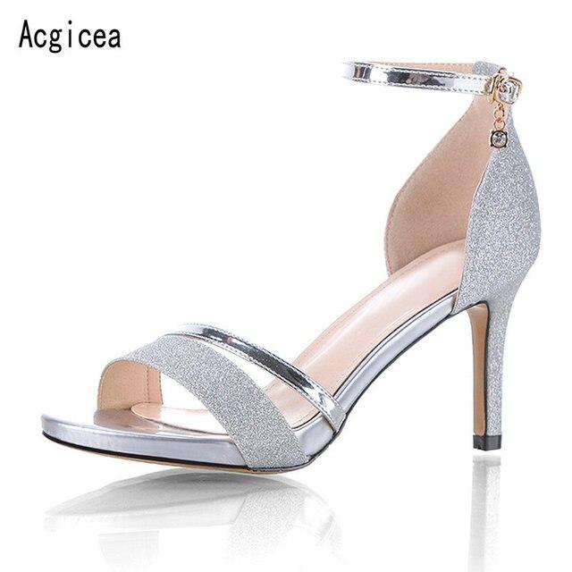 d10b9d30ec1 2018 New Trend Women Elegant Pumps Comfortable High Heels Shoes Woman  Summer Best Quality Ladies Casual Purple Jeans Footwear