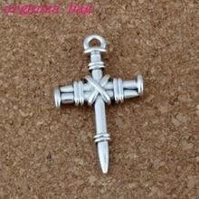 150 pcs Antique Silver Zinc Alloy Cross Charms Pendants 34x20mm DIY Jewelry A-0114D