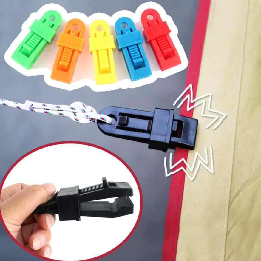 Outdoor Tent Canopy Clip Fastener Plastic Fittings Multifunctional Wind Rope Buckle Tent Clip 0816
