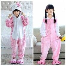 Baby Sleepers Children Animal Pajamas Kitty Onesie Sleepwear Costume Pyjamas Kids Girls Boy Clothes