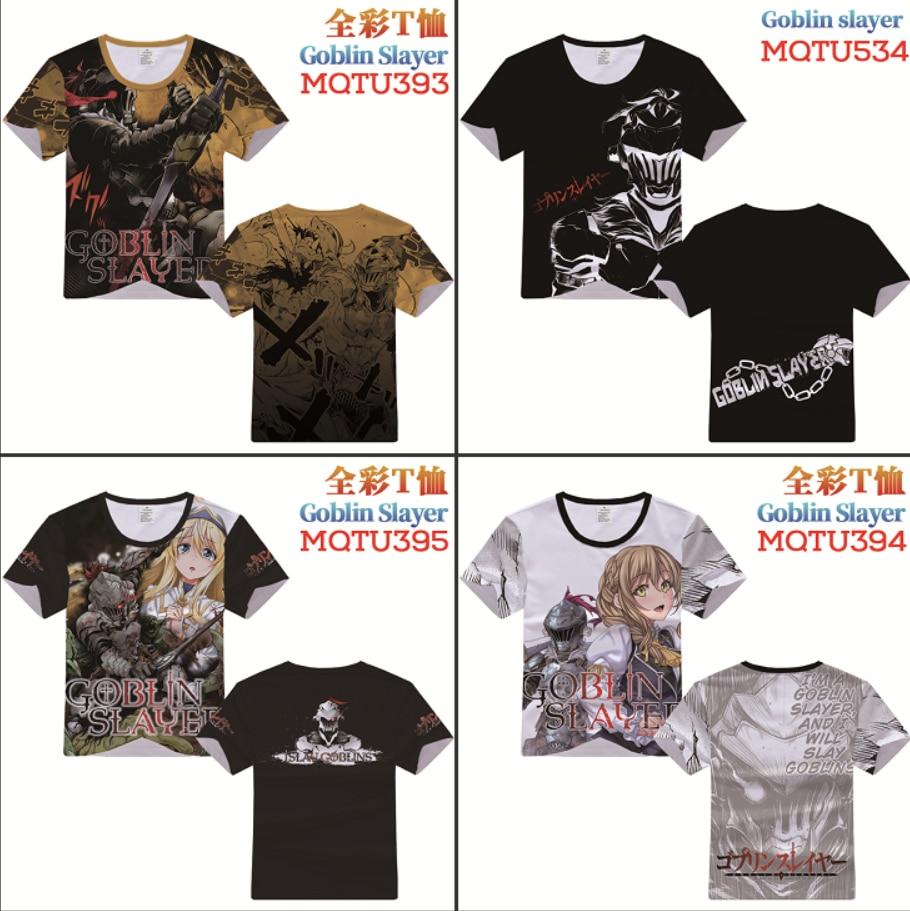 Anime Goblin Slayer Character Cosplay T-shirt Short Sleeve Unisex Casual Tee Top
