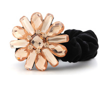 Luxury Hair Accessories Flower With Crystal Rhinestone Hair Rope Online Shop For Women Accessories Hair Jewelry