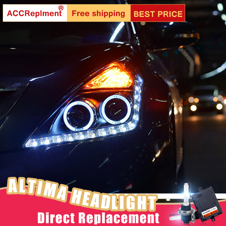 2Pcs LED Headlights For Nissan Altima 2008-2012 led car lights Angel eyes xenon HID KIT Fog lights LED Daytime Running Lights eemrke cob angel eyes drl for kia sportage 2008 2012 h11 30w bulbs led fog lights daytime running lights tagfahrlicht kits page 7