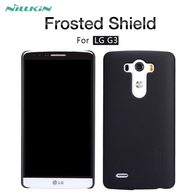 Pour LG G3 cas NILLKIN Givré Bouclier mat dur cas de couverture arrière pour LG G3 D855 D850 D851 D852 LS990 vs985 5.5 pouce téléphone cas