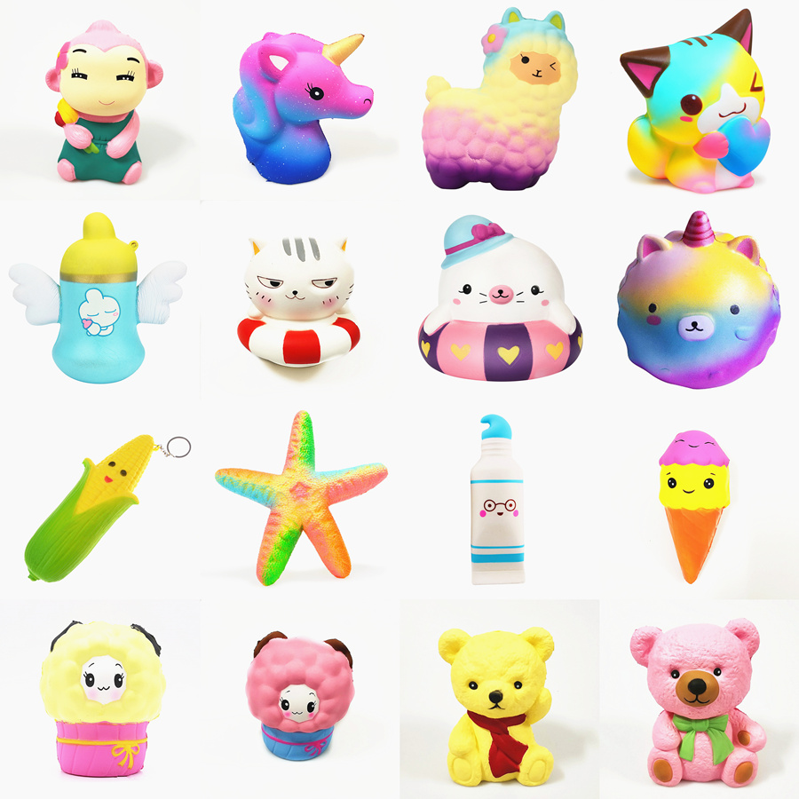 Squishy Slow Rising squeeze toy star deer glseese bear cake corn hippocampus starfish watermelon sheep toothpaste ice cream цена
