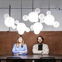 Стекло Круглая Люстра Творческий мыльный пузырь Hanglamp столовая люстры плоть современный Luminaria Стекло осветительное оборудование