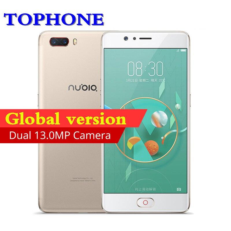 Глобальный Nubia m2 5,5 FHD 4G B Оперативная память 128 ГБ Встроенная память мобильного телефона Восьмиядерный процессор Snapdragon 625 3630 мАч 16.0MP Android M 4G LTE...