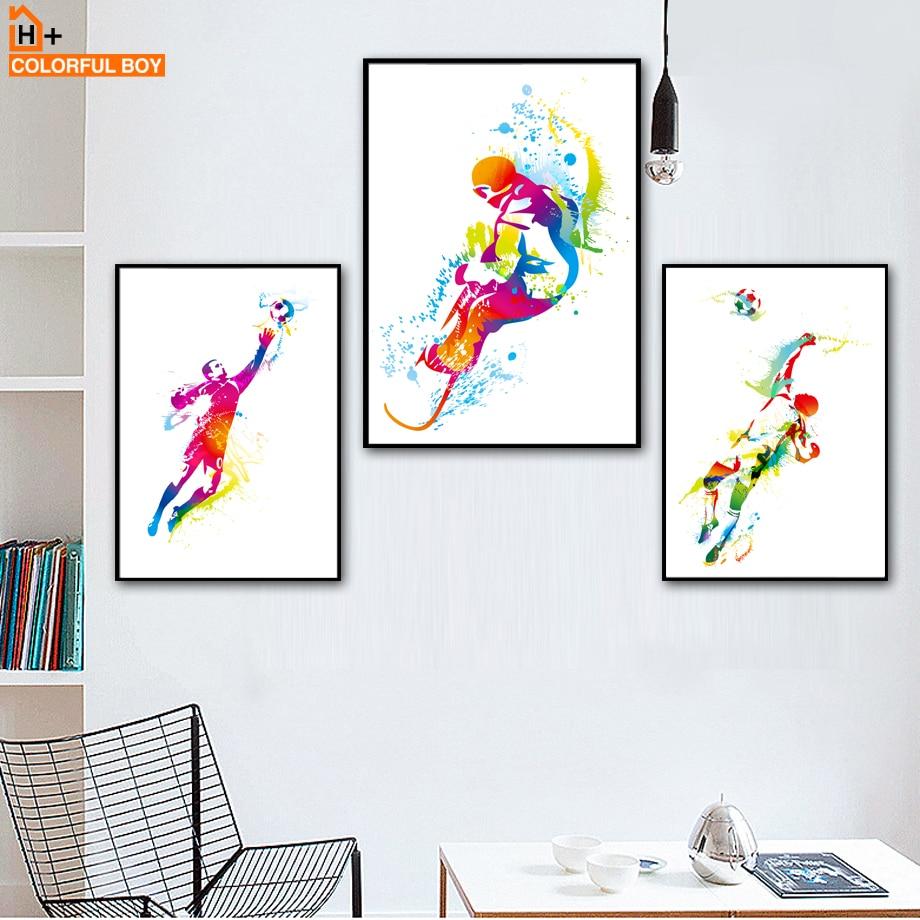 COLORFULBOY Nogometni nogomet Sport Plakati i ispise zidne umjetnosti - Kućni dekor - Foto 1