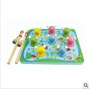 1 - 7 stereo wooden 3d fishing toy educational toys child toy wooden toy