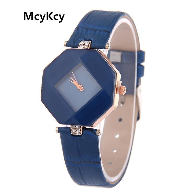 2016 Hot Sale Luxury Fashion  Brand Women Watches Ladies Leather Quartz Wristwatches Relogio Feminino Montre Femme Relojes Mujer