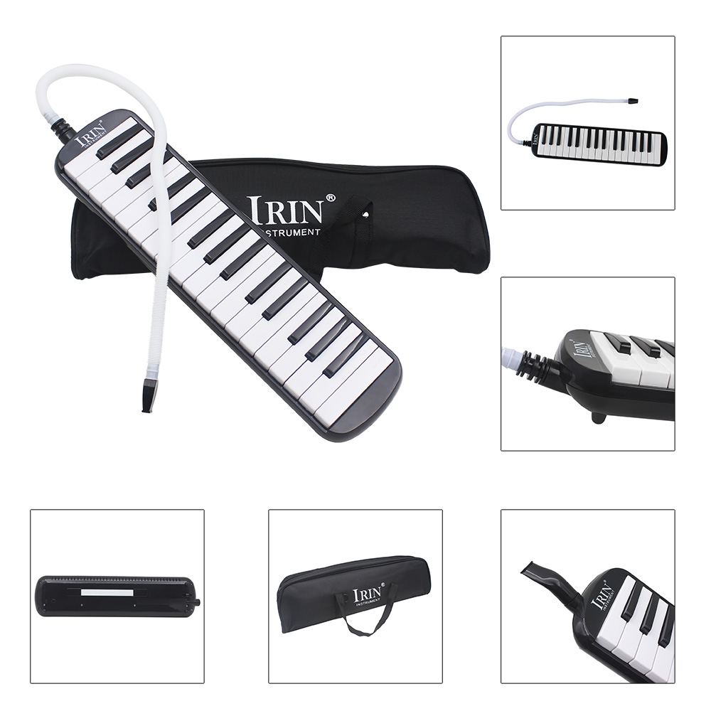 IRIN New Style 32 Piano Keys Black Melodica Musical Instrument For Music Lovers Beginners Gift With Carrying Bag