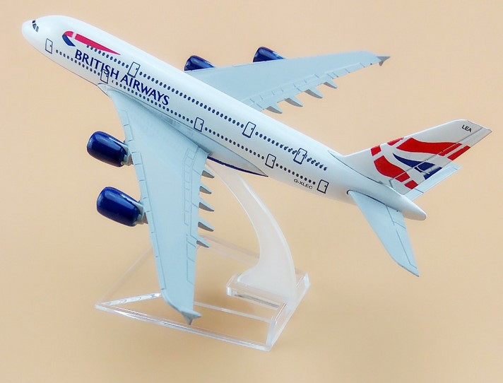 plane model Boeing 380 British Airways aircraft A380 16cm Alloy simulation airplane model for kids toys Christmas gift