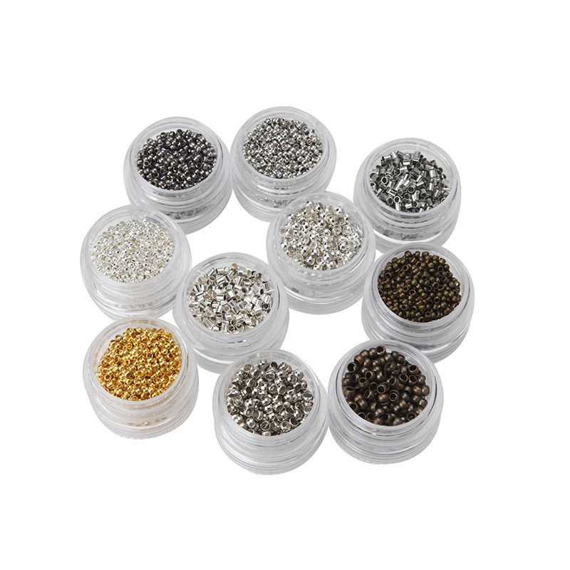 5g/bag 2/3mm Colorful Metal Beads Positioning Beads Clip Beads Crimp End Bead Jewelry Making Accessories
