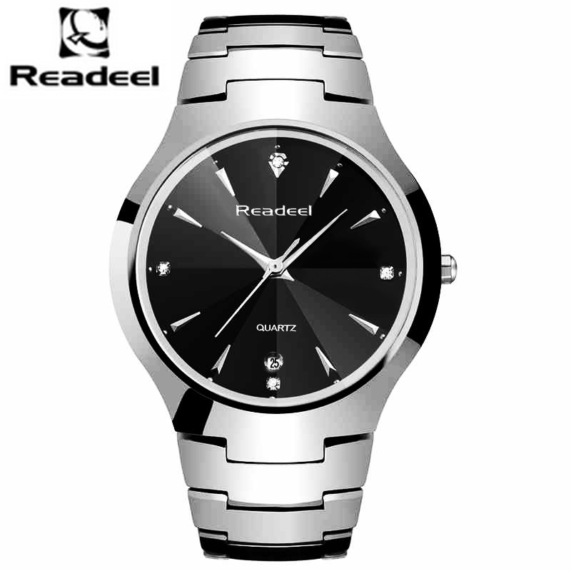 Readeel Brand Luxury Men Watches Men Quartz Men watches top waterproof quartz clock Male stainless steel watch reloj hombre men watches brand wwoor men s watch famous casual quartz watches stainless steel wristwatches waterproof male clock reloj