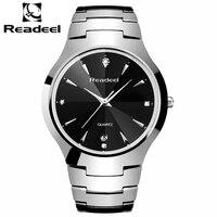 Readeel Homens Homens Relógios de Quartzo Dos Homens relógios top Marca de Luxo relógio de quartzo Masculino relógio de aço inoxidável à prova d' água reloj hombre