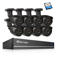 Techage 8CH 1080 P HDMI AHD dvr комплект CCTV система безопасности 2MP HD IR ночного видения наружная камера видео набор для наблюдения 2 ТБ HDD