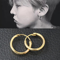 10 pairs/lot Small Hoop Earrings Women Men Gold Silver Plated Smooth Circle Round  Huggie Loop Earring Ear Accessories Jewelry