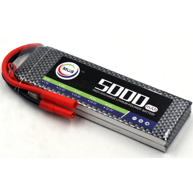 MOS 2S RC LiPo battery 7.4v 5000mAh 25C 2S Batteria For RC Helicopter RC Car RC Boat Quadcopter Li Polymer batteries