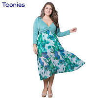 Vintage Dress Fashion Women Flowers Princess Sexy Long Sleeved Outwear Dresses Suit Sexy Beach Casual Style