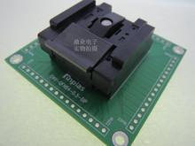 Z klapką QFN-64BT-0 5-01 QFN64 DIP64 ENPLAS 9*9mm szerokość rzędów 0 5mm IC spalania siedzenia Adapter testowania miejsce badania gniazdo stanowisku do badań tanie tanio Tester kabli JINYUSHI 9X9mm