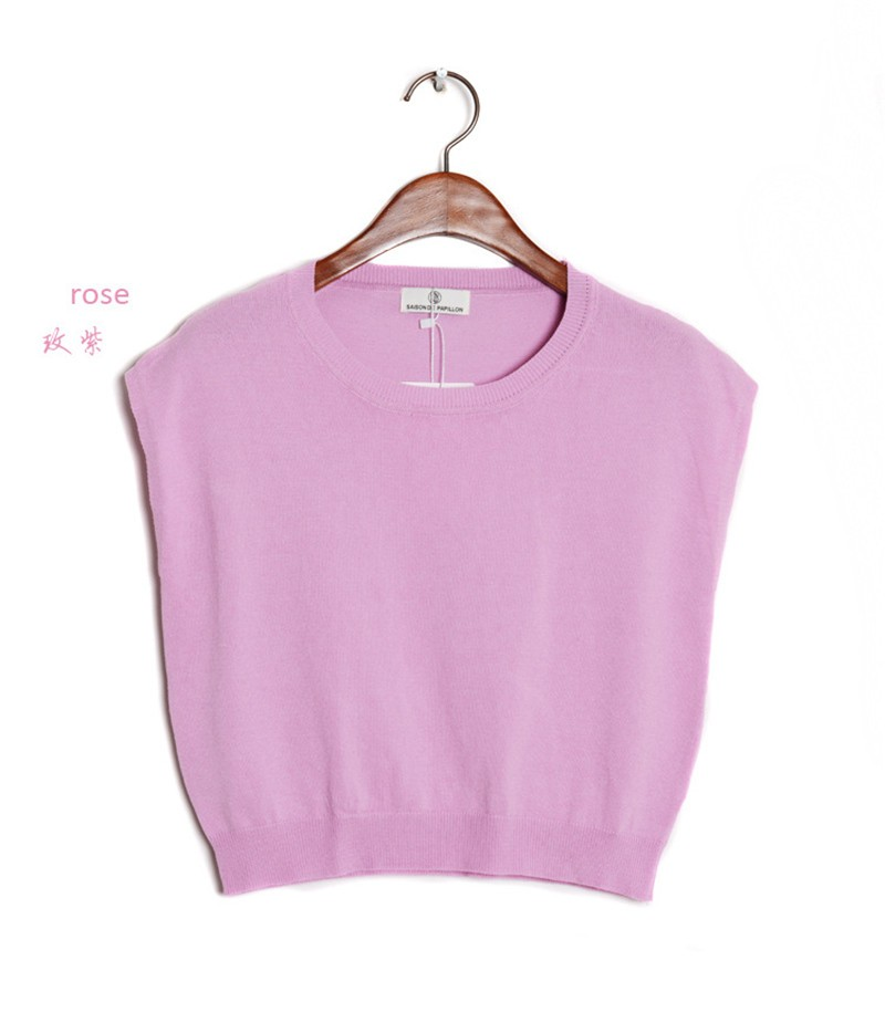 Summer 2016 Solid knitted short Pullover Sweater (20)