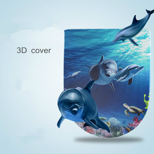 Toilet Cover Thickening Slow Down Toilet Seat Covers 3D Three-dimensional Pattern Printing Toilet Lid