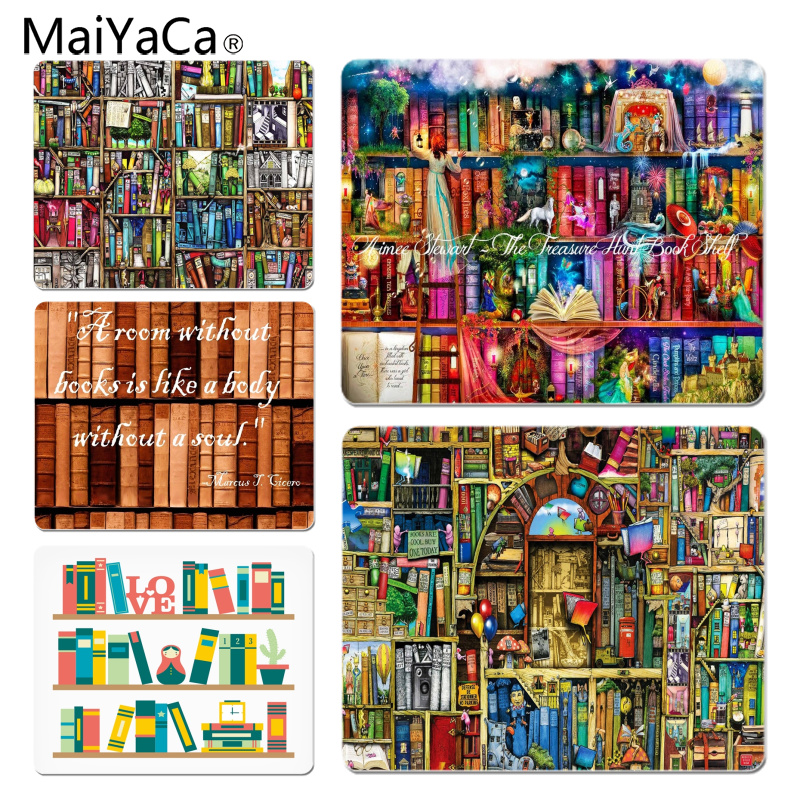 MaiYaCa Simple Design I Love You Books DIY Design Pattern Game mousepad Size for 180x220x2mm and 250x290x2mm Small Mousepad