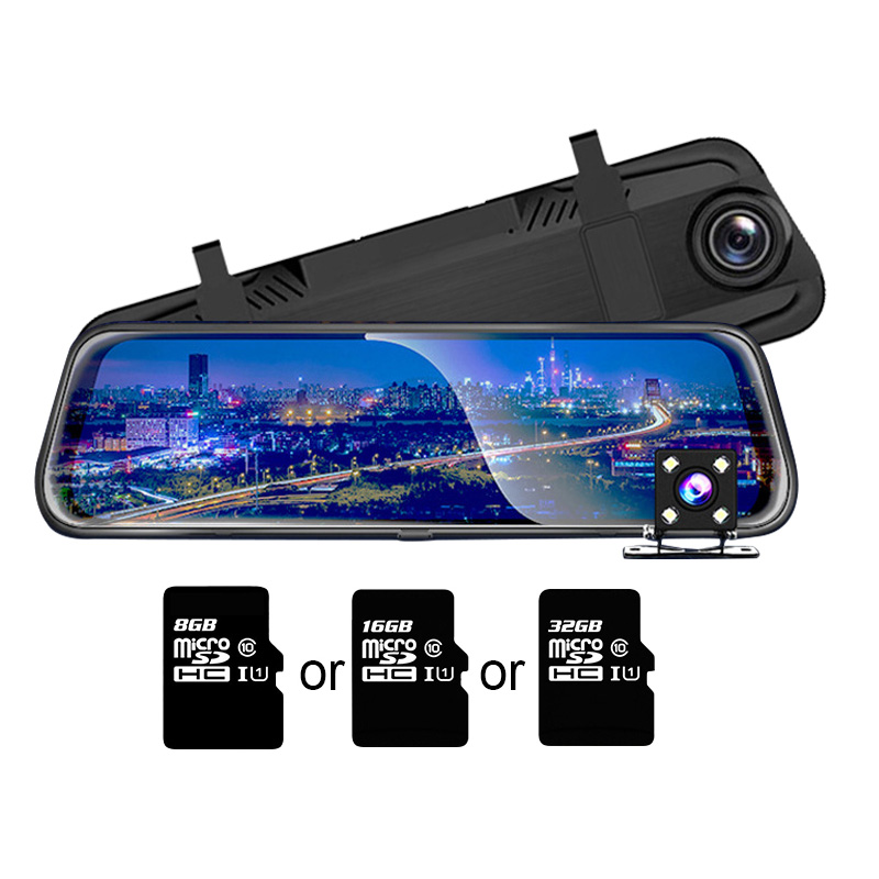 TOSPRA Car DVR Camera Dual Lens 10 Full HD 1080P Mirror Rear View Video Dashboard Recorder Touch Screen Night Vision Dash CamTOSPRA Car DVR Camera Dual Lens 10 Full HD 1080P Mirror Rear View Video Dashboard Recorder Touch Screen Night Vision Dash Cam