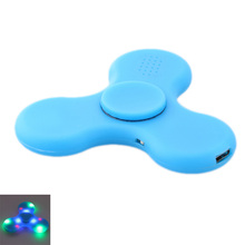 LED Bluetooth Speaker Musical Handspinner Tri Fingertip Gyro Spinner Anti Stress Relief Kids Children Adults Toys Gifts